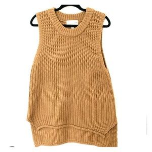 J.O.A. Nude Sleeveless Tunic Sweater